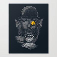 a british gentleman werewolf  Canvas Print