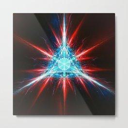 Fractality - Crystalline Metal Print