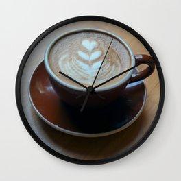 Heart Coffee Wall Clock
