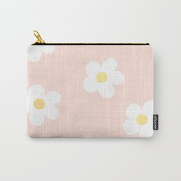 Retro 60's Flower Power Print 3 Carry-All Pouch