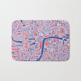 London City Map Poster Bath Mat
