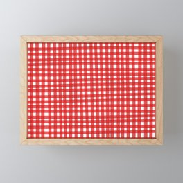 Red Gingham Framed Mini Art Print