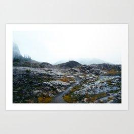 Rainy Mount Baker Art Print