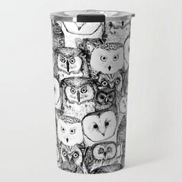 just owls black white Travel Mug