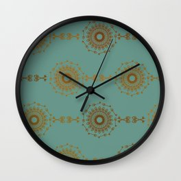 Stamp key Pattern Wall Clock