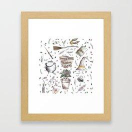 Potter pattern Framed Art Print