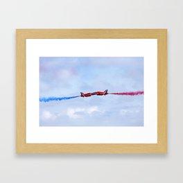 The Red Arrows synchro pair Framed Art Print