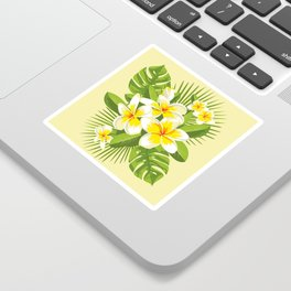 Tropical Bouquet. Plumeria Sticker