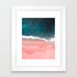 Turquoise Sea Pastel Beach III Framed Art Print