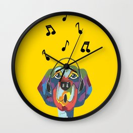 Singing The Blues - Dog - Animal Wall Clock