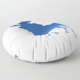 blue moose Floor Pillow
