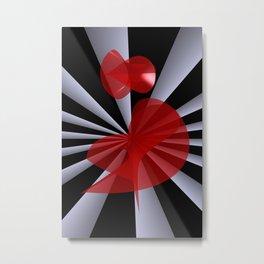 red white black -19- Metal Print