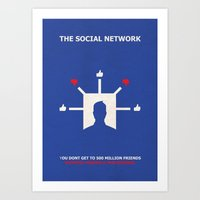 The Social Network Alternative Minimalist Poster - Dislike Art Print