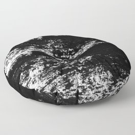 VICTIMIZED - black with no background Floor Pillow