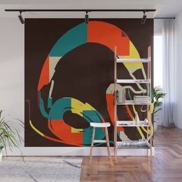 Funky Headphones for all Your Beats #DigitalArt #Cool Wall Mural