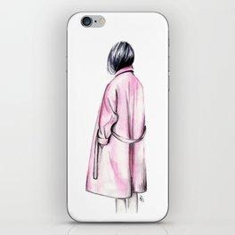 Pink coat iPhone Skin