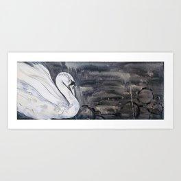 Swan Storm Art Print