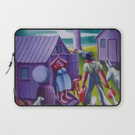African-American 1940 Classical Masterpiece 'Lawd Mah Man's Leavin'' by Archibald Motley Laptop Sleeve