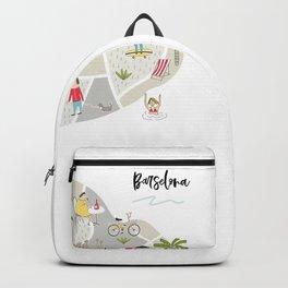 Barcelona Map Backpack