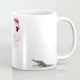 Haunted Tightrope Girl And Gator Coffee Mug