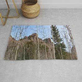 Watercolor Landscape, North Crestone Trail 09, Colorado Rug