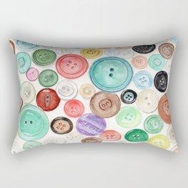 Buttons! Rectangular Pillow