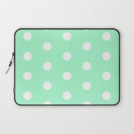 POLKA DOT ((seafoam green)) Laptop Sleeve