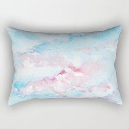 Pink and Blue Clouds . Sky Rectangular Pillow