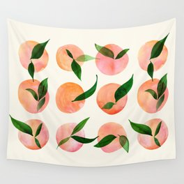 Abstract Orchard / Watercolor Fruit Wall Tapestry