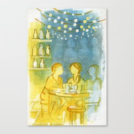 Barcelona Nights Canvas Print