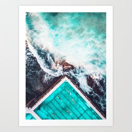 Sydney Bondi Icebergs Art Print