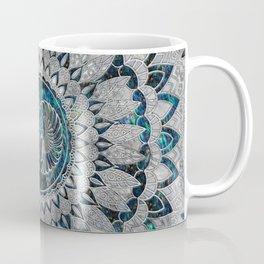 Egyptian Scarab Beetle Silver and Abalone Coffee Mug