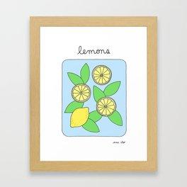 Lemons - Brighter Framed Art Print