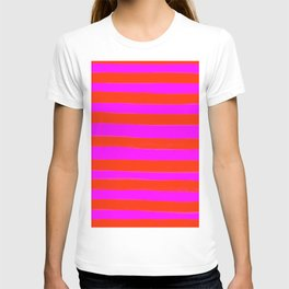 Sweet Stripes in Pink and Red Line Art #decor #society6 #buyart T-shirt