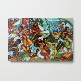 "African American Classical Masterpiece ""The Mutiny on the Amistad"" by Hale Woodruff Metal Print"