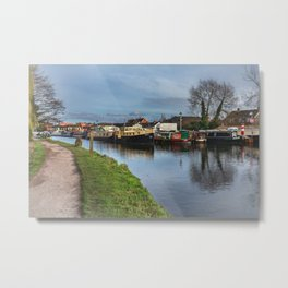 Boats On The Kennet Metal Print