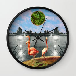 The flamingos Wall Clock