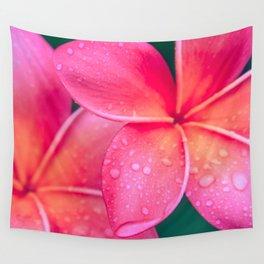 Aloha Hawaii Kalama O Nei Pink Tropical Plumeria Wall Tapestry