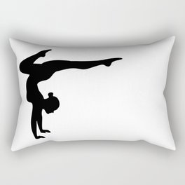 B&W Contortionist Rectangular Pillow