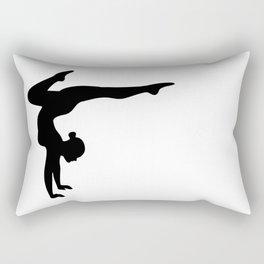 B&W Contortionist Rectangular Pillow