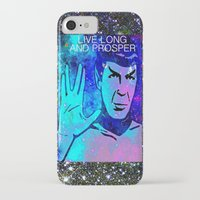 spock iPhone & iPod Cases featuring SPOCK by Saundra Myles