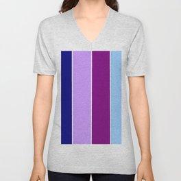 Just four colors 1 Blue and purple Unisex V-Neck
