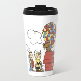 up snoopy Travel Mug