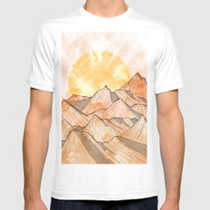Sandy Shores MEDIUM Mens Fitted Tee White