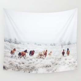 Winter Horses Wall Tapestry