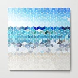 Cube Beach Metal Print