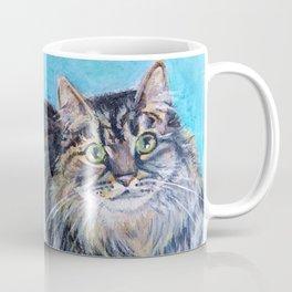Munchkin tabby cat portrait Coffee Mug