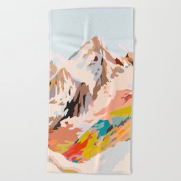glass mountains Beach Towel