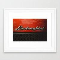lamborghini Framed Art Prints featuring Lamborghini by Grafiko