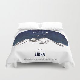 Astrology Libra Zodiac Horoscope Constellation Star Sign Watercolor Poster Wall Art Duvet Cover